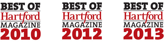 Best of Hartford Magazine 2010, 2012, 2013