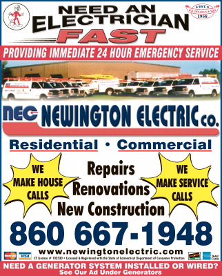 Newington Electric. Residential and Commercial Electrician CT